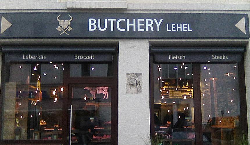 Butchery Lehel Leuchtwerbeanlage