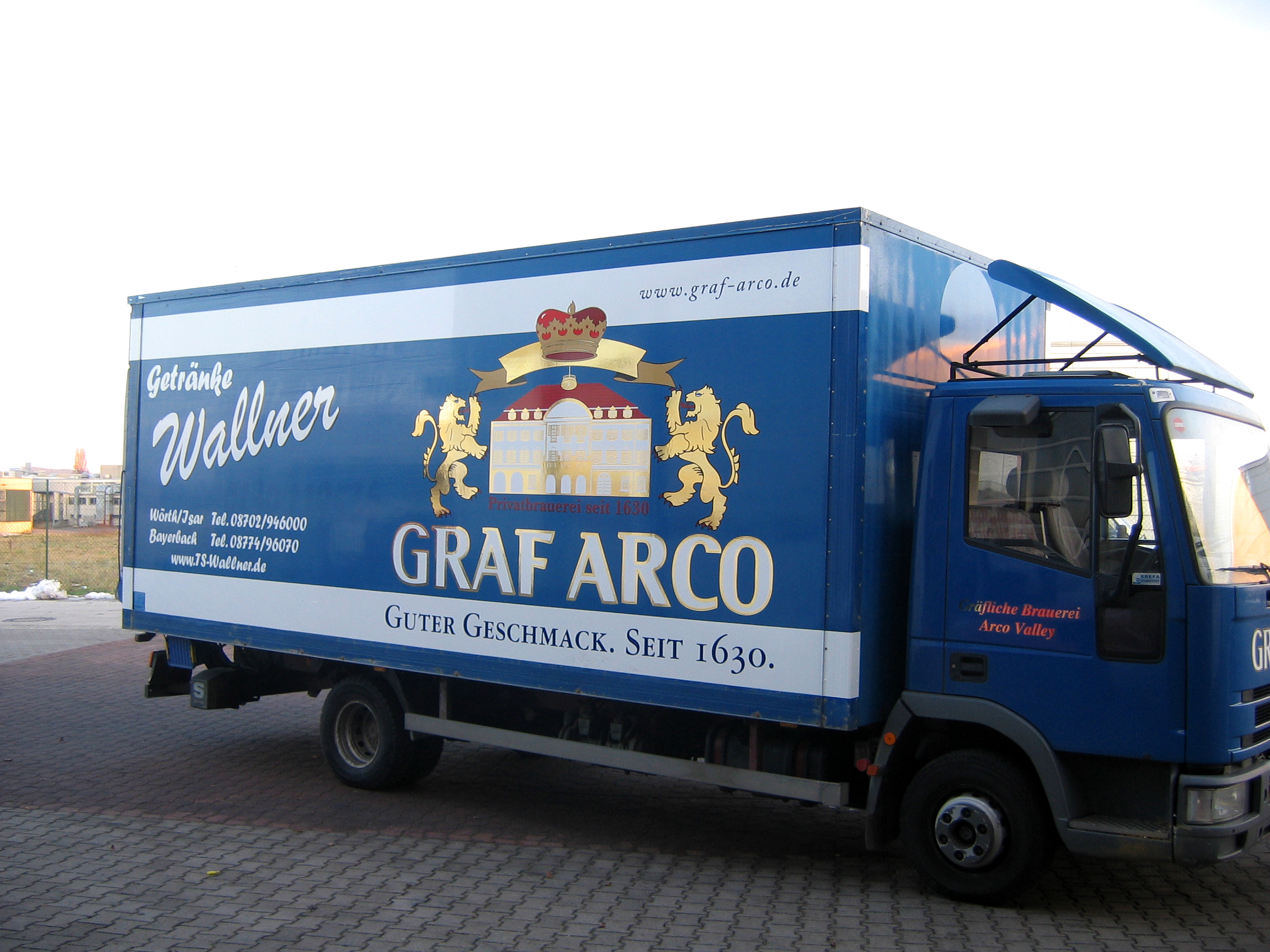 Graf Arco Bräu Fahrzeugbeschriftung
