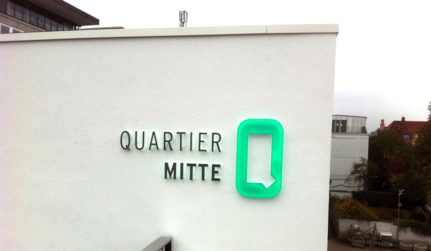 Quartier Mitte LED Lichtwerbung