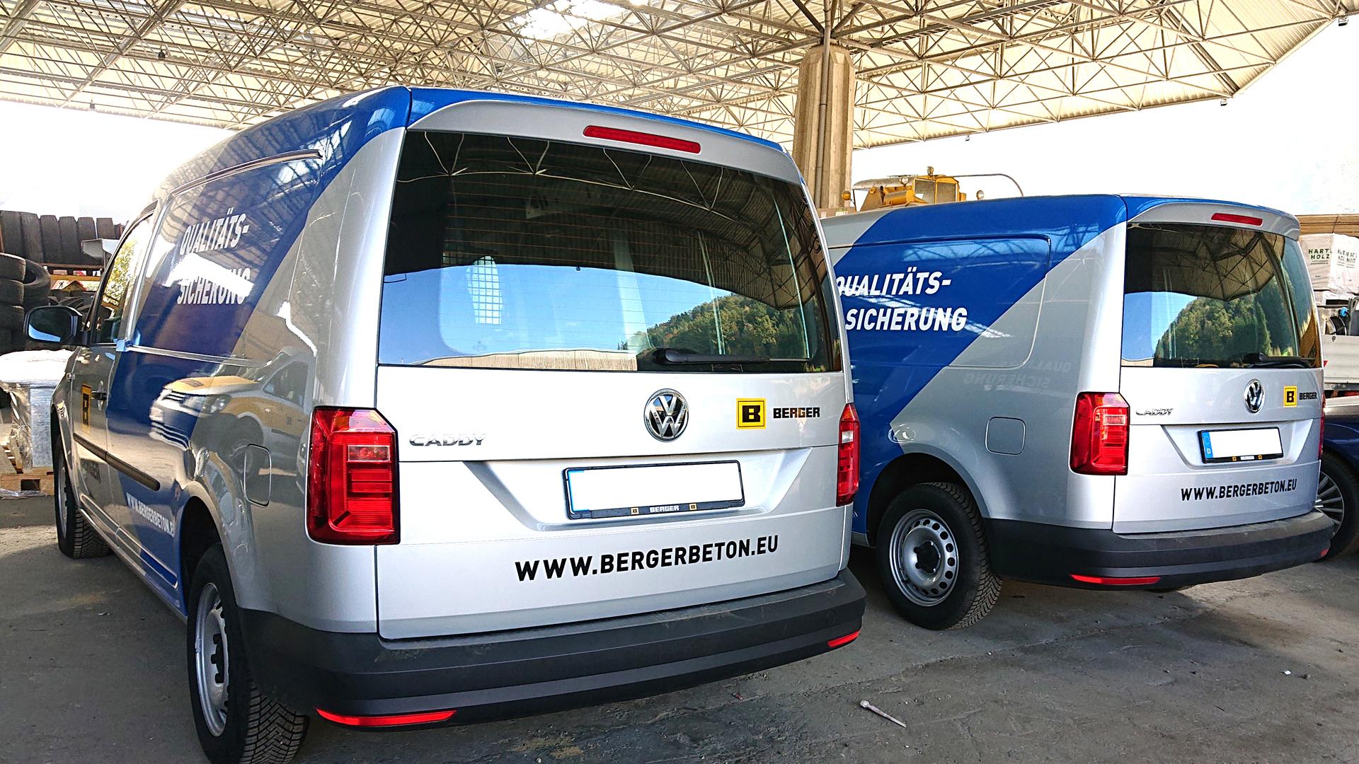 Berger Fahrzeugbeschriftung
