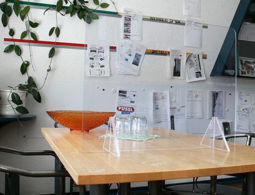 Spuckschutz für Ihren Schreibtisch