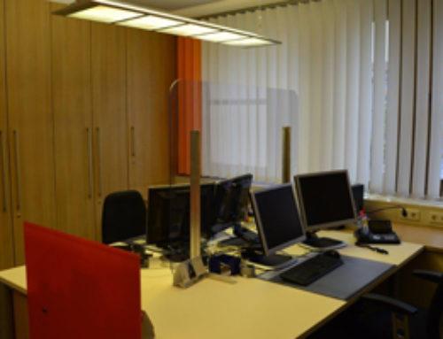 Spuckschutz für Büroräume