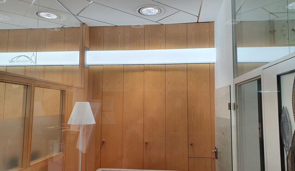 Lichtleiste als indirekte Innenraumbeleuchtung